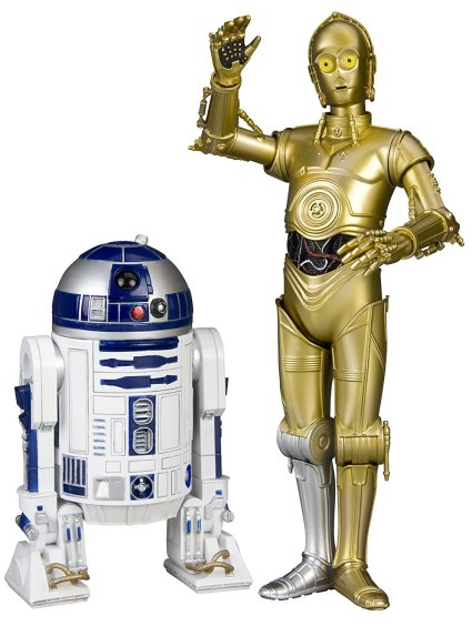 R2-D2 மற்றும் C-3PO Star Wars திரைபடத்தின் கதாப்பாதிர ரோபோக்கள்.