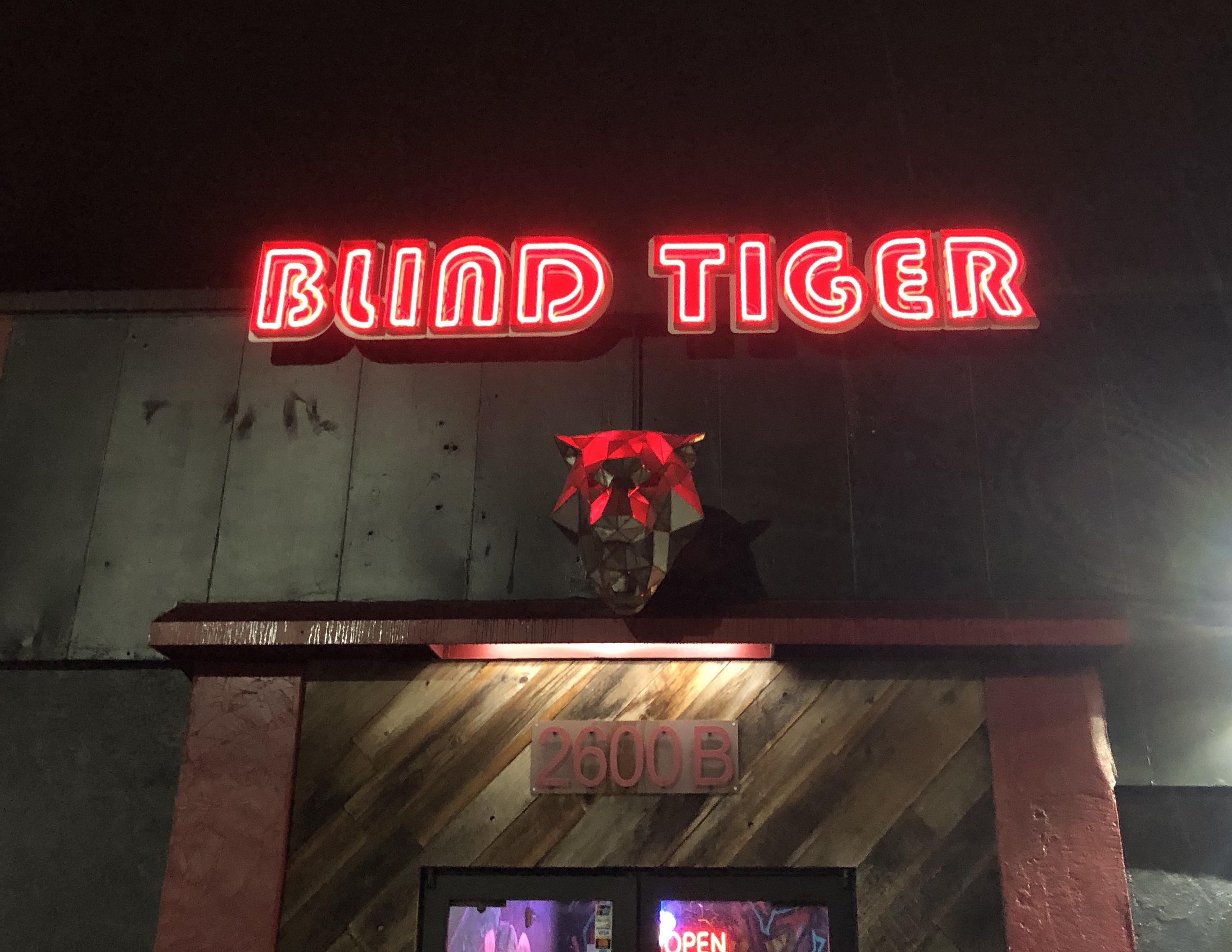 குருட்டுப்புலி ருட்டுப்புலி, ஓக்லாண்டு, கலிபோர்னியா. 2019. படம்: முத்து அண்ணாமலை. Blind Tiger, Oakland, CA.