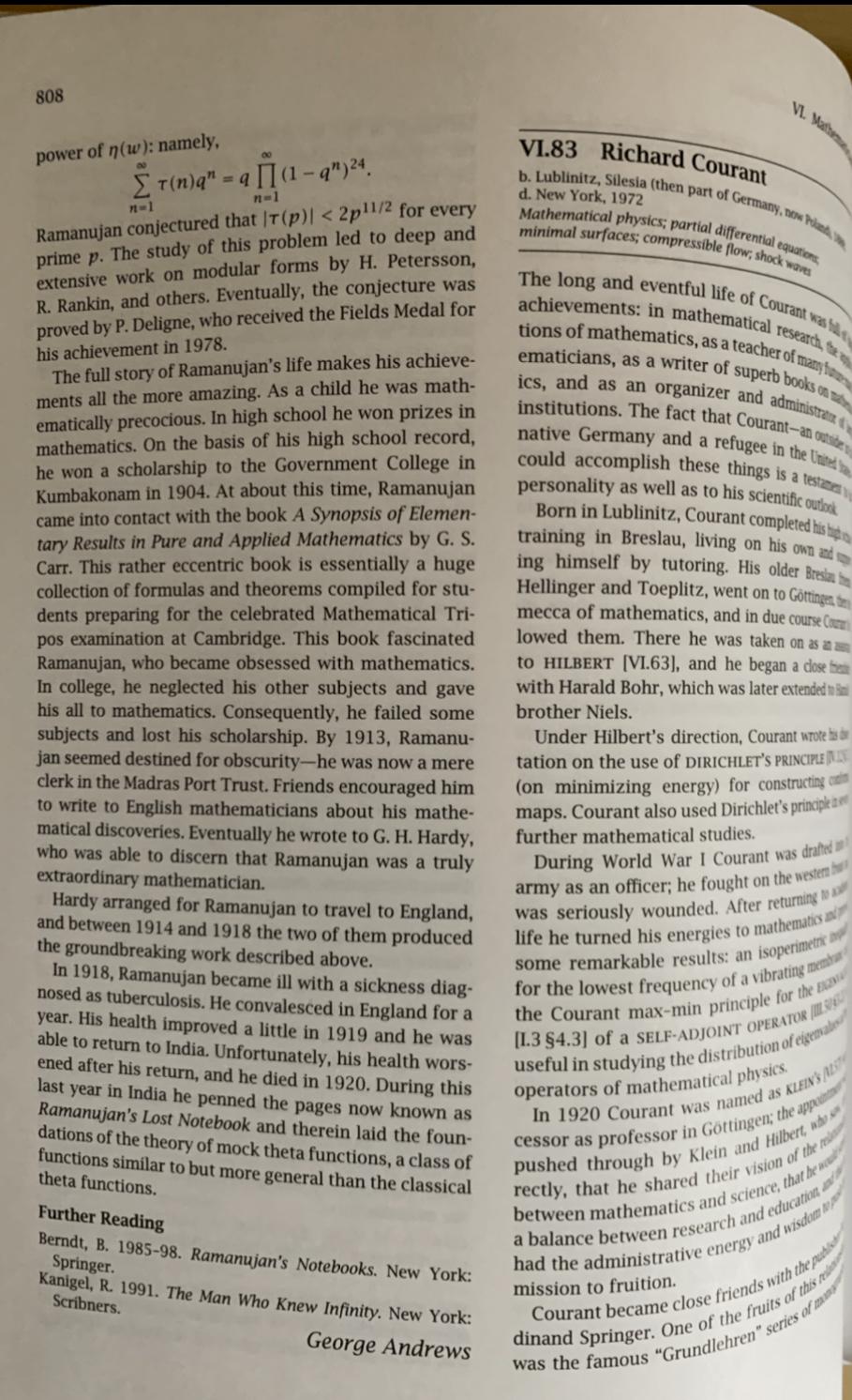 Ramanujan - biography - 2